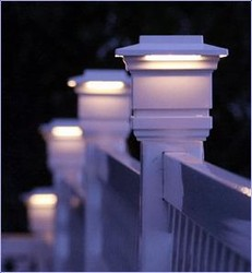 "4"" Classy Cap deck post lights Kit"