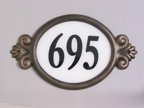 House number plaque classic model cls 101 free shipping for Classic house number plaque