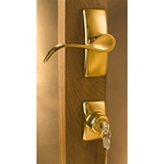 Storm Door Handle with Deadbolt