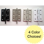 Storm door hinges