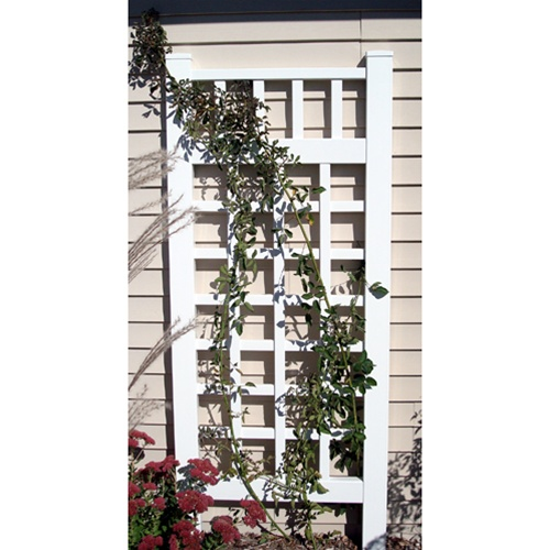 plantation white vinyl trellis va ptw free shipping