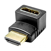 Calrad 35-714<br>HDMI Female to Male right angle adapter. Up 90° Gold contacts.