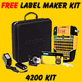 FREE Dymo Rhino 4200 Soft Case Kit with purchase of 10 Dymo Labels