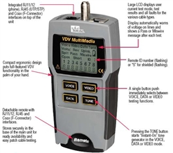 Ideal Industries 33 856 Vdv Multimedia Cable Tester Kit