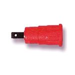 NTE 72-046 4MM PANEL SOCKET RED 4.8MM TAB PUSH-IN 25A