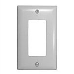 Philmore 75-1000 Wall Plate Cover, 1 Gang Designer Style White
