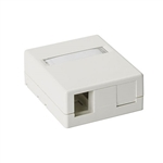 HellermannTyton SMBDUAL-FW Surface Mount Box, 2 Port, Office White