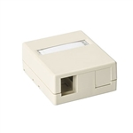 HellermannTyton SMBDUAL-I Surface Mount Box, 2 Port, Ivory