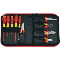 Wiha 32891 Tool Set, Pliers Cutters Drivers Insulated 10 Piece