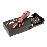 Wiha 71991 Screwdriver Bit Set, Security Bits with ClicFix Bit Holder 39 Pieces