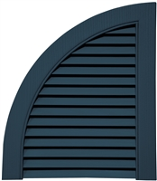 ARCH TOP - QUARTER ROUND OPEN LOUVER (pair)