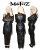 LEATHER LOOK HOBBLE STRAITJACKET DRESS