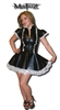 DELUXE BLACK LEATHER LOOK FRENCH MAID