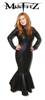 MISFITZ LEATHER LOOK FISHTAIL DRESS