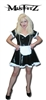 BLACK AND WHITE PVC PIPING MAIDS