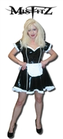 BLACK & WHITE PVC  MAIDS DRESS
