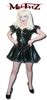 BLACK PVC EXTREME MINI BUCKLE MAIDS DRESS