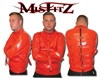 RED PVC BUCKLE STRAIT JACKET