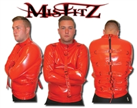 RED PVC BUCKLE RESTRAINT STRAITJACKET