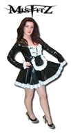 BLACK PVC MAIDS UNIFORM
