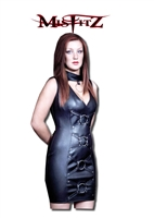 LEATHER LOOK SLAVE DRESS