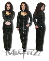 PVC PADLOCK SWEETHEART HOBBLE STRAITJACKET DRESS