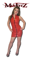 RED LATEX BARBARELLA DRESS