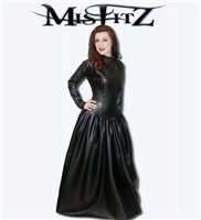 LEATHER LOOK MISTRESS BALLGOWN