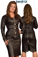 LEATHER LOOK PADLOCK PENCIL SKIRT