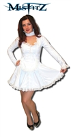 WHITE PVC BRIDAL MAIDS DRESS