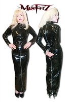 PVC PADLOCK STRAITJACKET HOBBLE DRESS