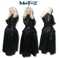 FAUX LEATHER BUCKLE RESTRAINT STRAITJACKET BALLGOWN