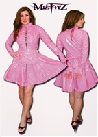PINK PVC STRAITJACKET MAIDS DRESS