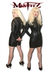 LEATHER LOOK PADLOCK STRAITJACKET DRESS
