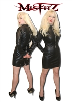 LEATHER LOOK PADLOCK STRAIT JACKET DRESS