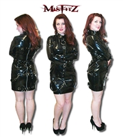 BLACK PVC BUCKLE RESTRAINT STRAITJACKET DRESS