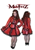 RED LATEX STRAIT JACKET MAIDS UNIFORM