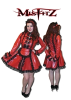 RED LATEX STRAITJACKET MAIDS UNIFORM