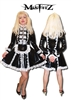 PVC DELUXE PADLOCK STRAITJACKET MAIDS DRESS