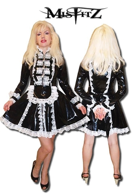 PVC DELUXE STRAITJACKET MAIDS DRESS