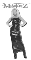 PVC HOBBLE SKIRT WITH TWO WAY ZIPPER