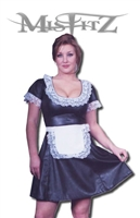 LEATHER LOOK CLASSIC FRENCH MAID