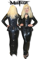 LATEX PADLOCK HOBBLE SKIRT