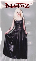 LEATHER LOOK BUCKLE FRONT CORSET BALLGOWN