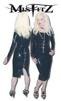 BLACK LATEX PADLOCK JACKET