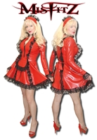 RED LATEX FRENCH MAIDS OUTFIT