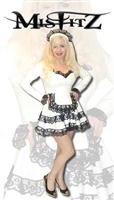 WHITE LEATHER LOOK LOLITA MAIDS