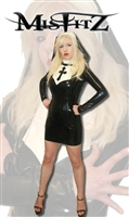 MISFITZ BLACK & WHITE  KINKY LATEX NUNS OUTFIT