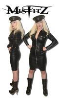 LEATHER LOOK BONDAGE STRICT DRESS
