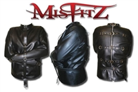 FAUX LEATHER BUCKLE RESTRAINT STRAIT JACKET